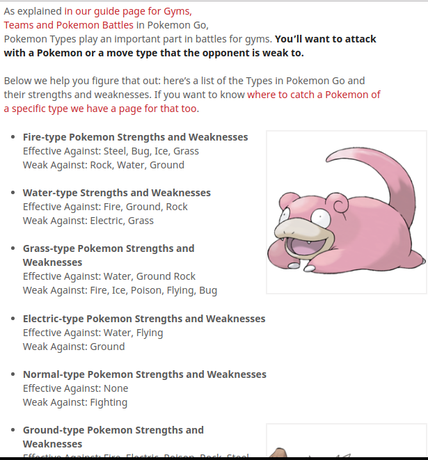 how pokemon types affect your attack or defense text or chart type